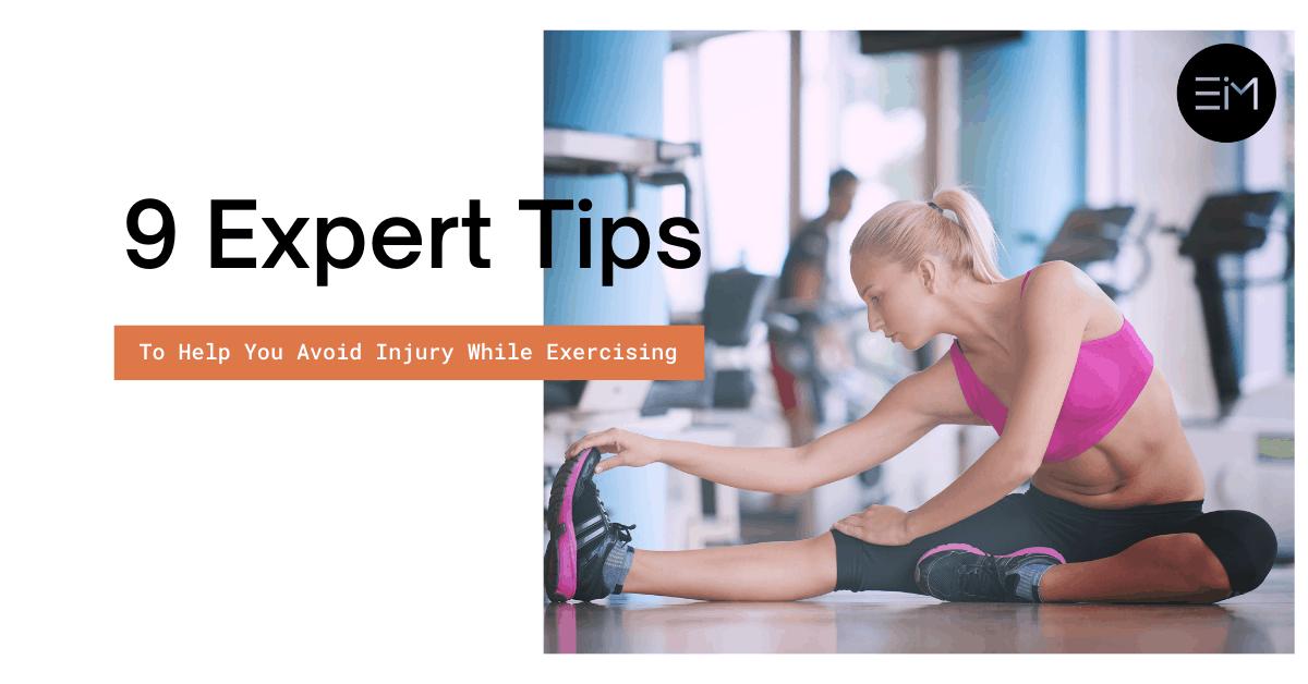 avoid injury while exercising